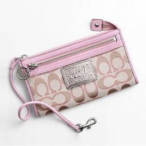 Pink Coach Poppy Wallet